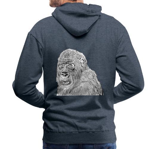 singe - Sweat-shirt à capuche Premium pour hommes