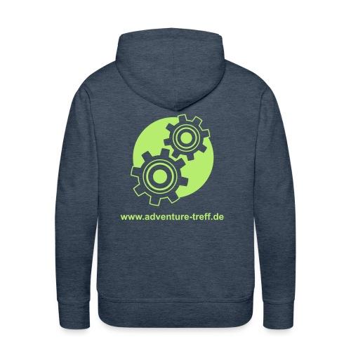 Treff Logo mit URL - Männer Premium Hoodie