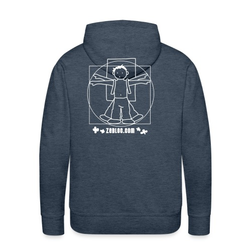boy flocage - Sweat-shirt à capuche Premium pour hommes