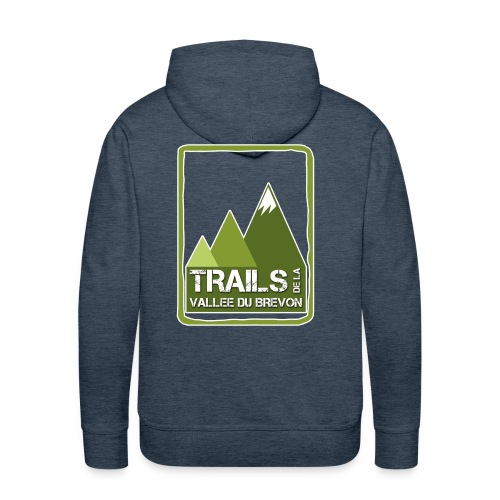 logo trails vb - Sweat-shirt à capuche Premium pour hommes