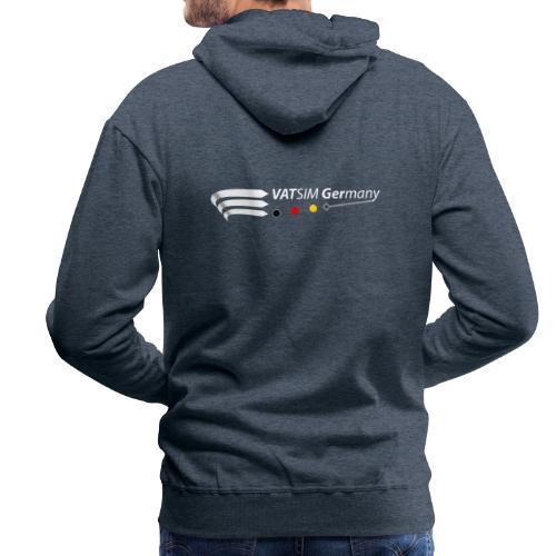 VATGer Logo White - Männer Premium Hoodie