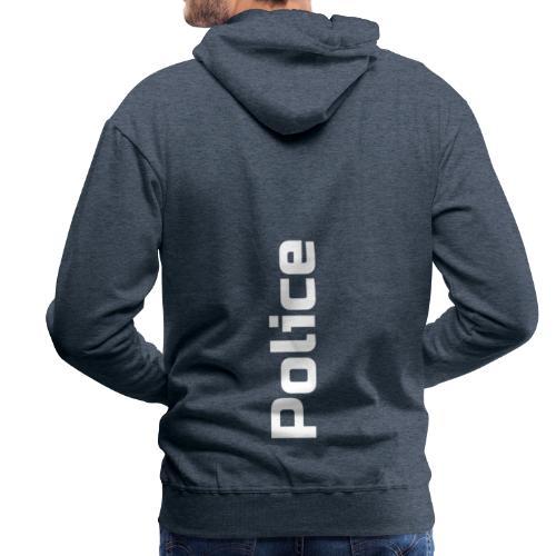 Police simple vertical - Sweat-shirt à capuche Premium pour hommes