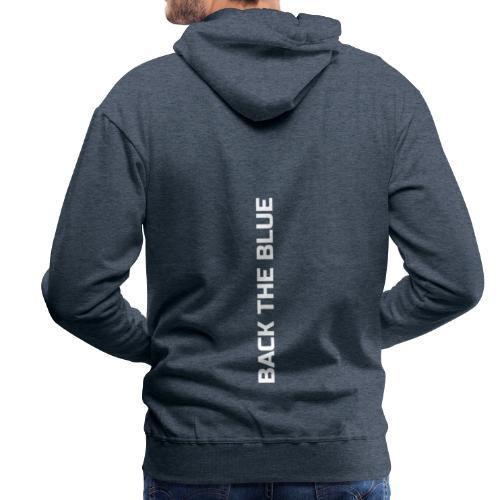 Back the Blue vertical - Sweat-shirt à capuche Premium pour hommes