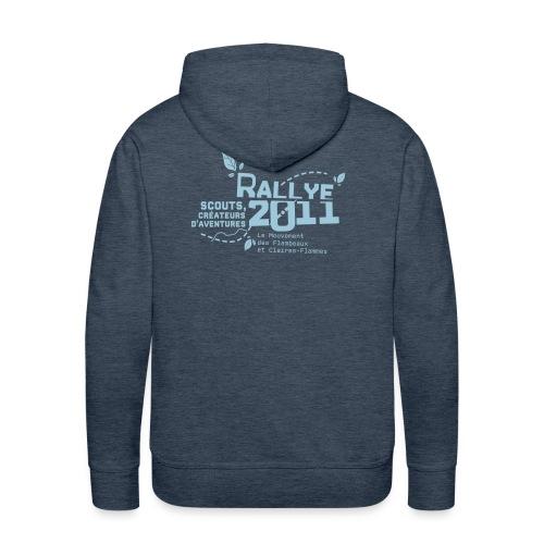 motif bleu - Sweat-shirt à capuche Premium pour hommes
