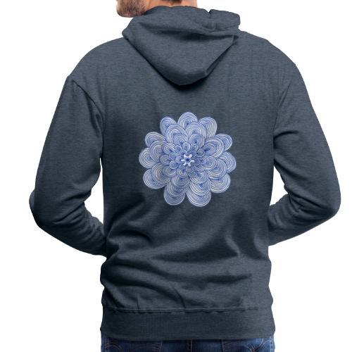 hypnotic flower blue - Felpa con cappuccio premium da uomo