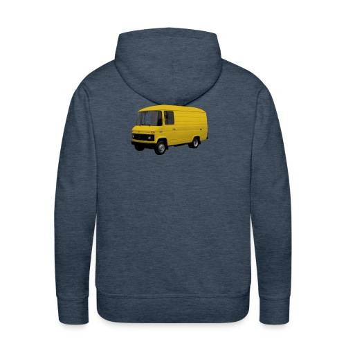 508 geel driekwart - Mannen Premium hoodie