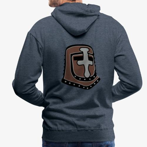 templar knight helmet fantasy - Men's Premium Hoodie