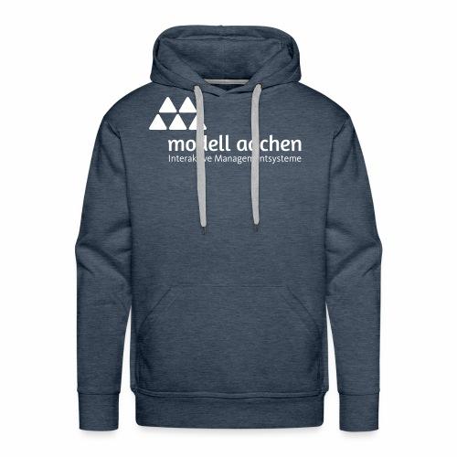Logo_ModellAachen_Weiss - Männer Premium Hoodie