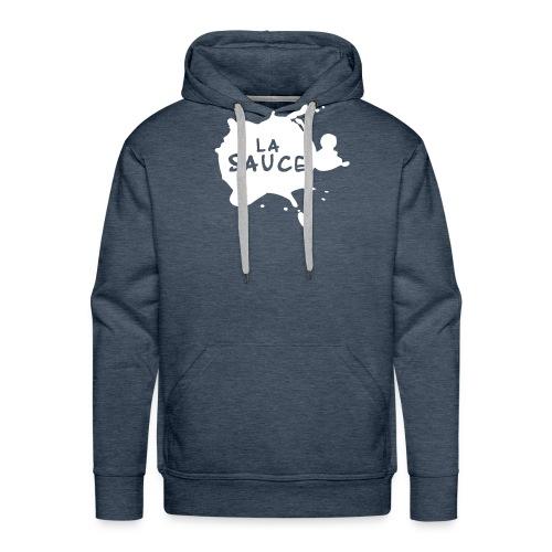 lasaucelogo blk - Sweat-shirt à capuche Premium pour hommes