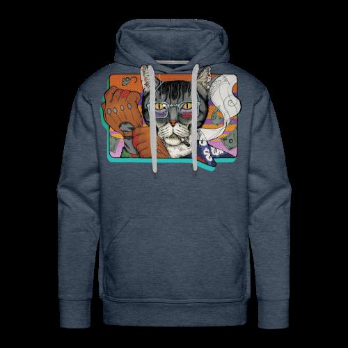 Crime Cat - Bluza męska Premium z kapturem