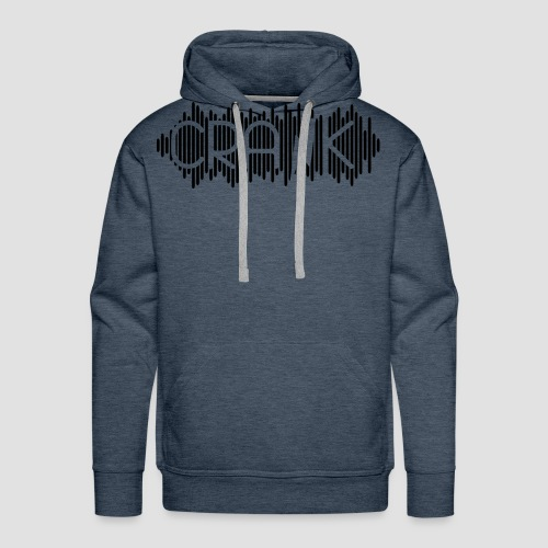 DJ Crank Logo Einfarbig - Männer Premium Hoodie