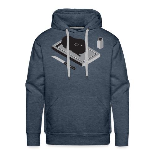 cavia1 groot grijs - Mannen Premium hoodie