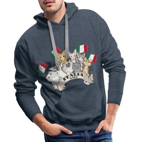Esposizione feline Italia - Felpa con cappuccio premium da uomo