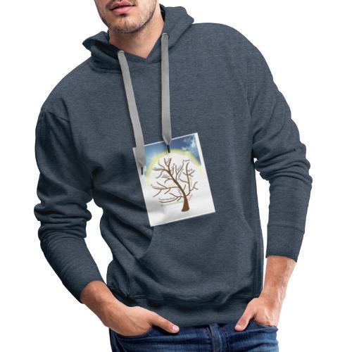Baum mit Licht - Männer Premium Hoodie