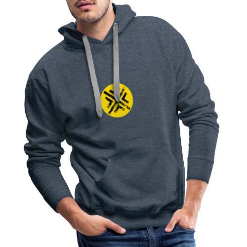 Símbolo Central - Sudadera con capucha premium para hombre