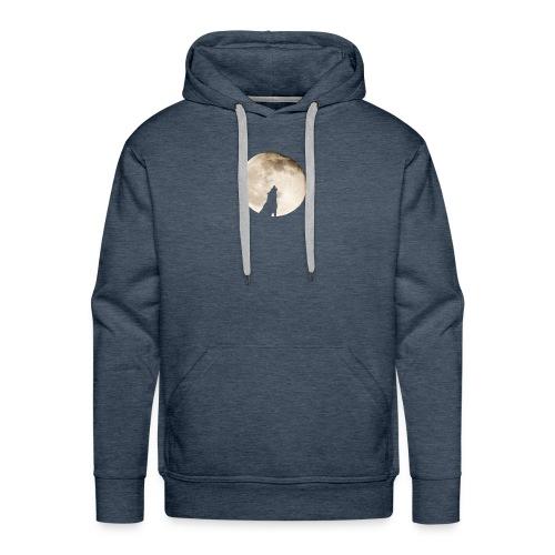 The wolf with the moon - Sweat-shirt à capuche Premium pour hommes
