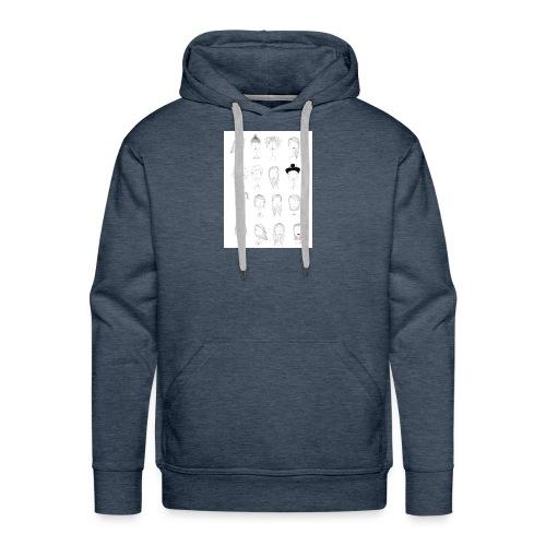 World - Sweat-shirt à capuche Premium pour hommes