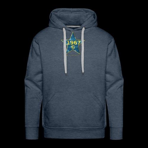 Star blau Jahrgangs-T-Shirt, jede Jahreszahl - Männer Premium Hoodie