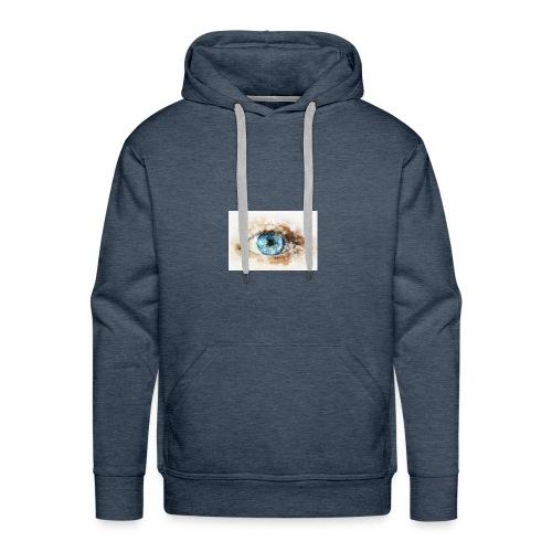 eye-blue-girl-art - Sweat-shirt à capuche Premium pour hommes