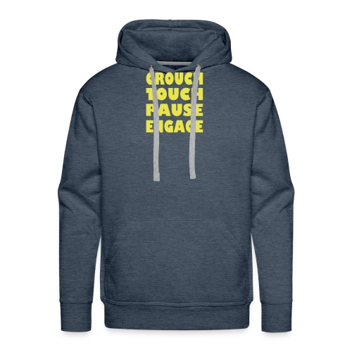 crouch touch pause engage m - Men's Premium Hoodie