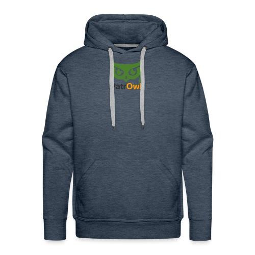 logo owl text large - Sweat-shirt à capuche Premium pour hommes