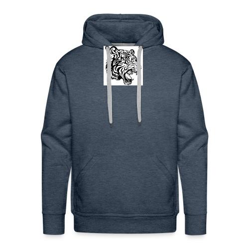 tribal tiger vector 636182 jpg - Sweat-shirt à capuche Premium pour hommes