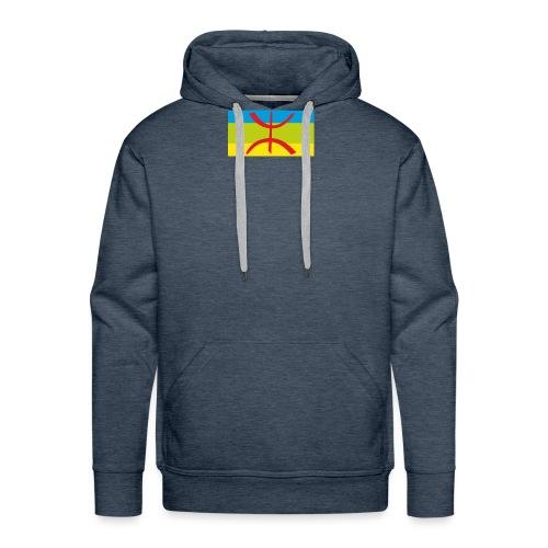 drapeau berbere tamazgha - Sweat-shirt à capuche Premium pour hommes