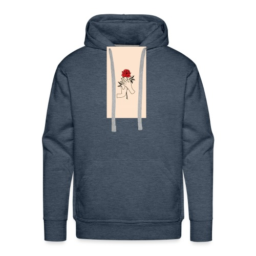 Piccolo rose - Herre Premium hættetrøje