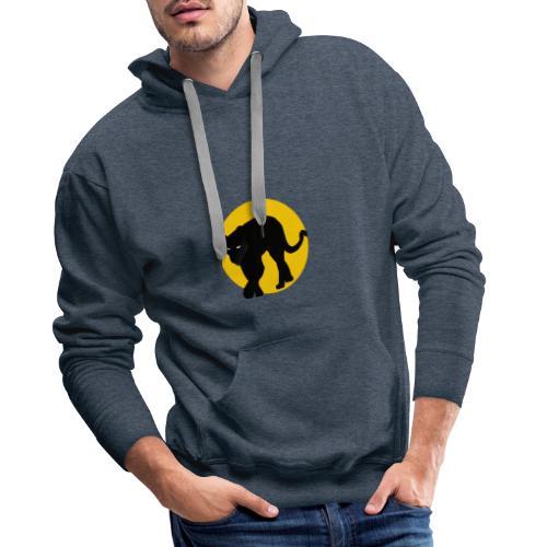 panthere lune - Sweat-shirt à capuche Premium pour hommes