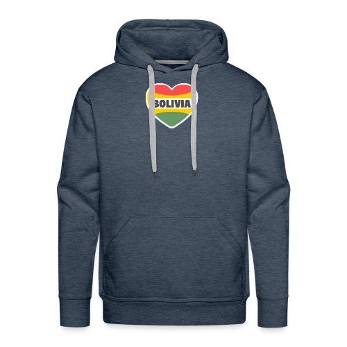 Bolivia en mi corazón tricolor - Sudadera con capucha premium para hombre