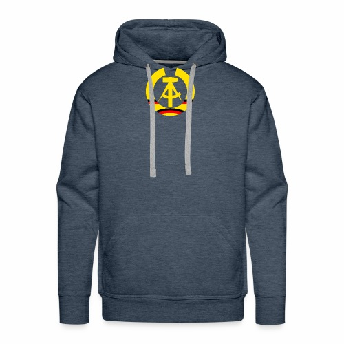 DDR coat of arms stylized (single) - Men's Premium Hoodie