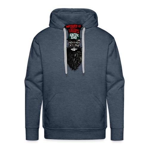 tete de mort hipster chapeau crane skull citation - Sweat-shirt à capuche Premium pour hommes