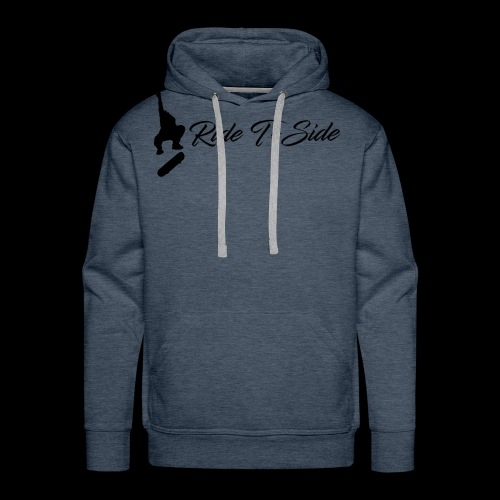 Ride T-Side - Skate Logo and Text - Black - Men's Premium Hoodie