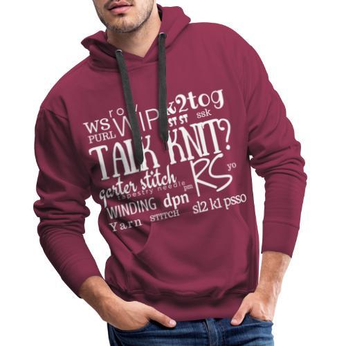 Talk Knit ?, white - Men's Premium Hoodie