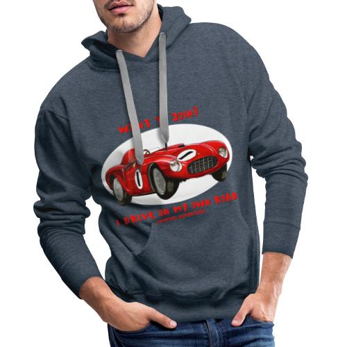 Happy Car Red - Premiumluvtröja herr