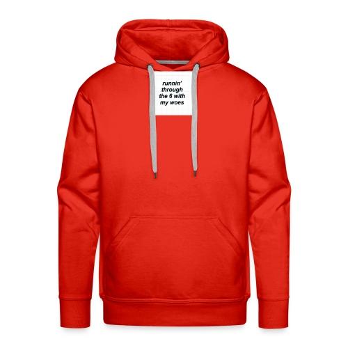 cap woes - Mannen Premium hoodie