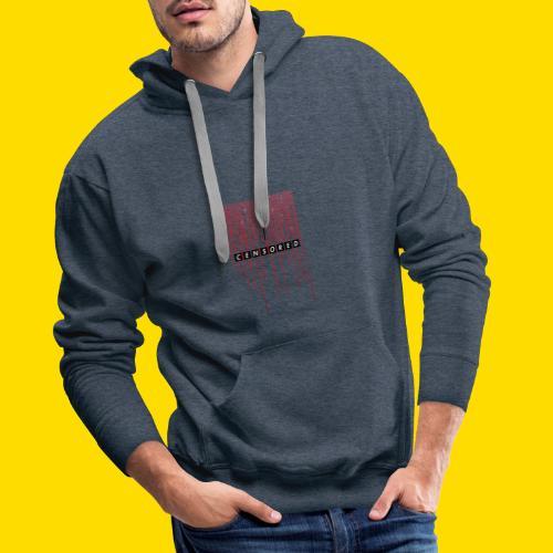 Censore Anti-Population Hack - Sweat-shirt à capuche Premium pour hommes