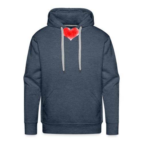 coranzon de lineas - Sudadera con capucha premium para hombre