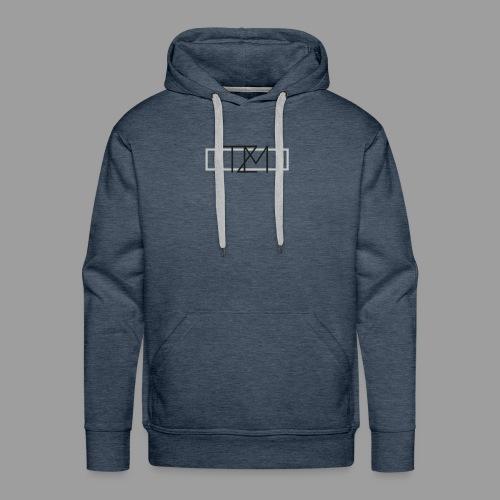 TMZ Logo black grey - Männer Premium Hoodie