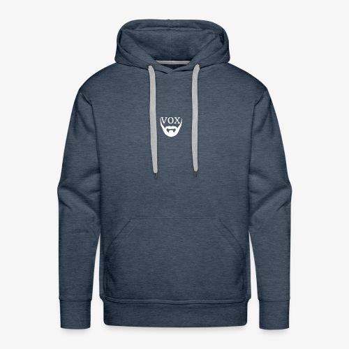 Logo Vox Bianco - Felpa con cappuccio premium da uomo