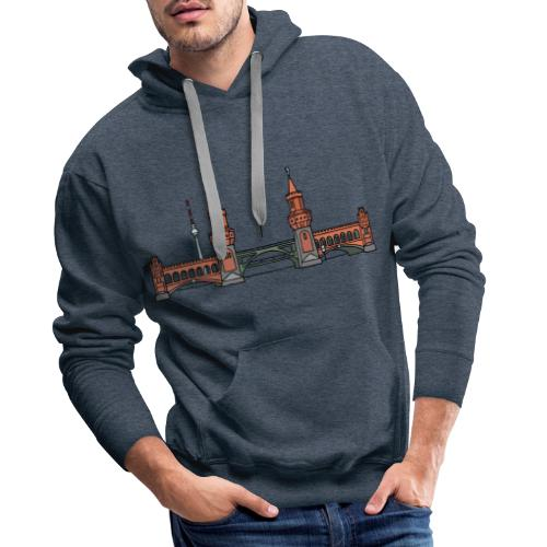 Oberbaumbrücke à BERLIN c - Sweat-shirt à capuche Premium pour hommes