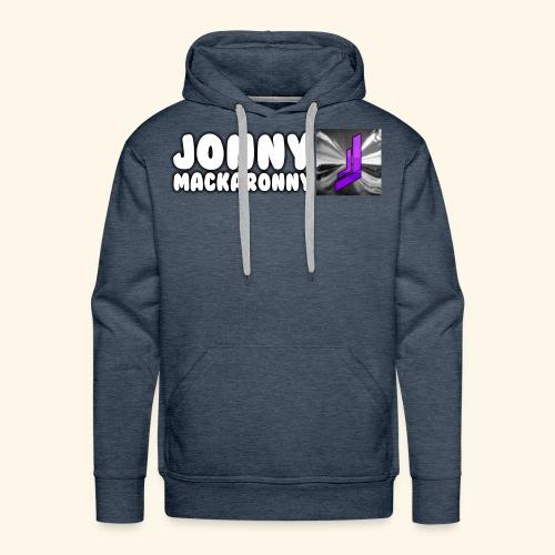 JonnyMackaronny Tekst med Logo - Premium hettegenser for menn
