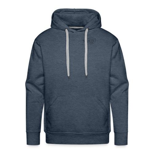 bushcraft logo - Felpa con cappuccio premium da uomo