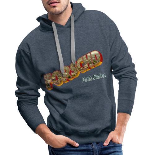 Forschd - Perle Badens - Vintage-Logo mit Luftbild - Männer Premium Hoodie