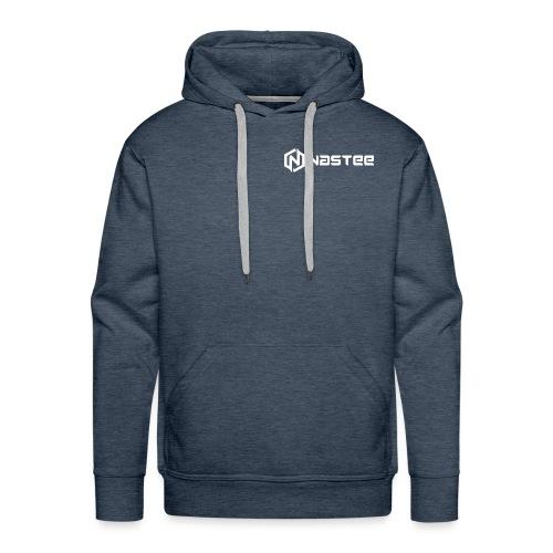 NASTEE logo Weiss - Männer Premium Hoodie