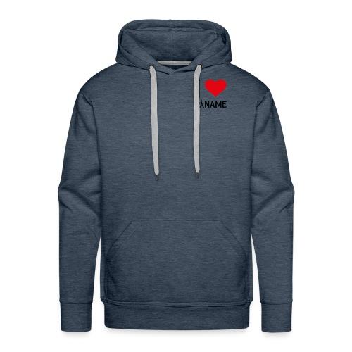 I love Paname - Sweat-shirt à capuche Premium pour hommes