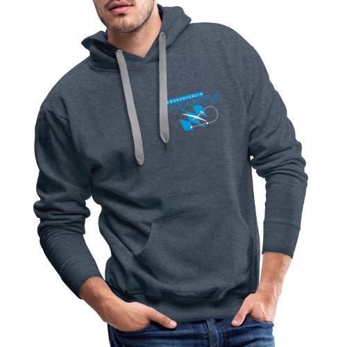 Design 03 (2-facher Druck vorne und hinten) white - Männer Premium Hoodie