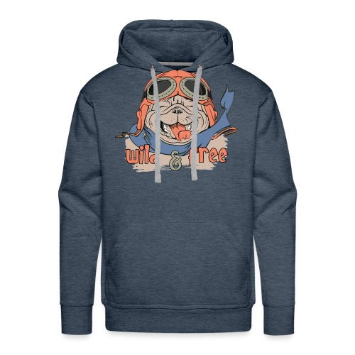 Wild & Free: Happy Pug Flier Freedom - Men's Premium Hoodie