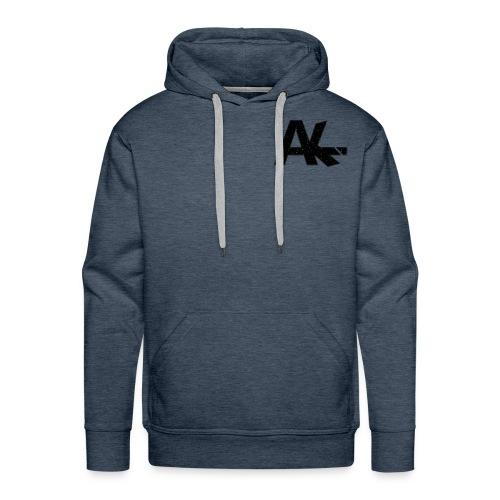 Logo de la team AIKE style trait blanc - Sweat-shirt à capuche Premium pour hommes