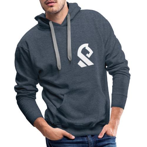 Offerspill Hvit Logo - Premium hettegenser for menn